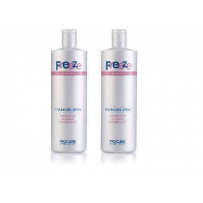 Freeze Hair Spray Gel 500ml Twin Pack